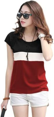 xl-ke7109-yes-no-original-imafpe84kgyyagjfrebound-casual-cap-sleeve-color-block-women-white-maroon-black-top-Valsad-ValsadOnline